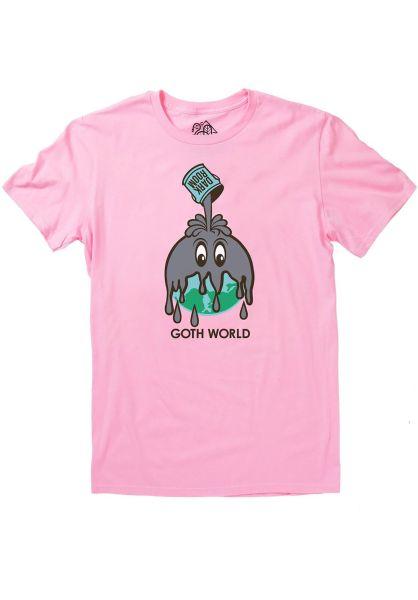 Darkroom T-Shirts Goth World pink vorderansicht 0399867