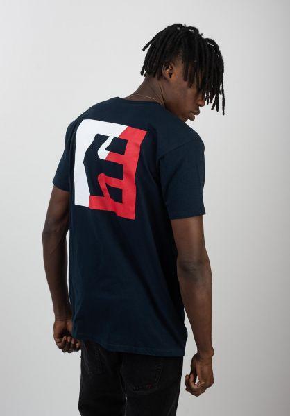 etnies T-Shirts Icon Flag navy vorderansicht 0320395