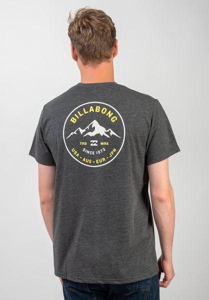 Billabong T-Shirts Aurora darkgreyheather vorderansicht 0320676