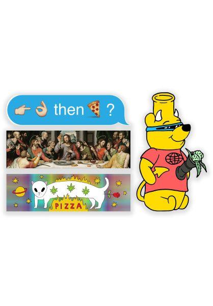 Pizza Skateboards Verschiedenes Egshell Sticker Pack 2 multicolored vorderansicht 0972239