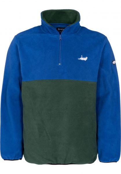 55b47d9a78 Rip N Dip Sweatshirts und Pullover Castanza Half Zip navy-huntergreen  vorderansicht 0422590