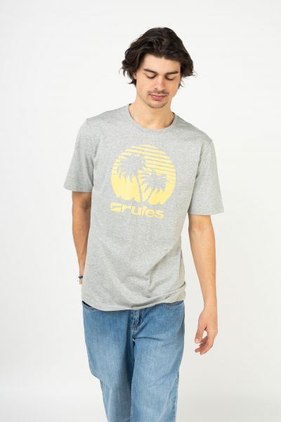Rules T-Shirts Palms heathergrey vorderansicht 0395411