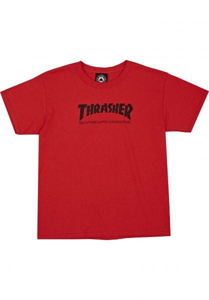Thrasher T-Shirts Skate Mag Toddler red Vorderansicht