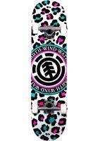element-skateboard-komplett-leopard-party-multicolored-vorderansicht-0162544