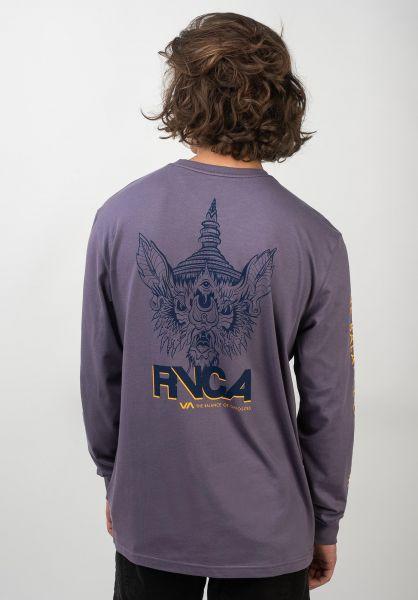 RVCA Longsleeves Screaming Bat purple-jade vorderansicht 0383477