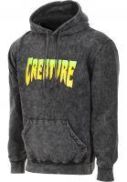 Creature Hoodies Creature Logo mineral-black Vorderansicht