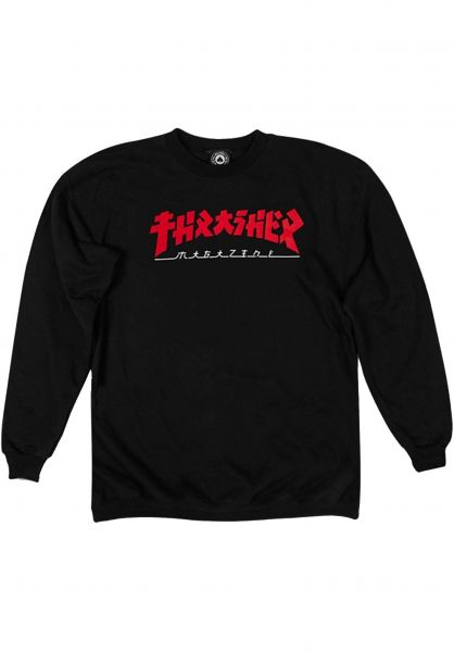 Thrasher Sweatshirts und Pullover Godzilla Crewneck black vorderansicht 0422752