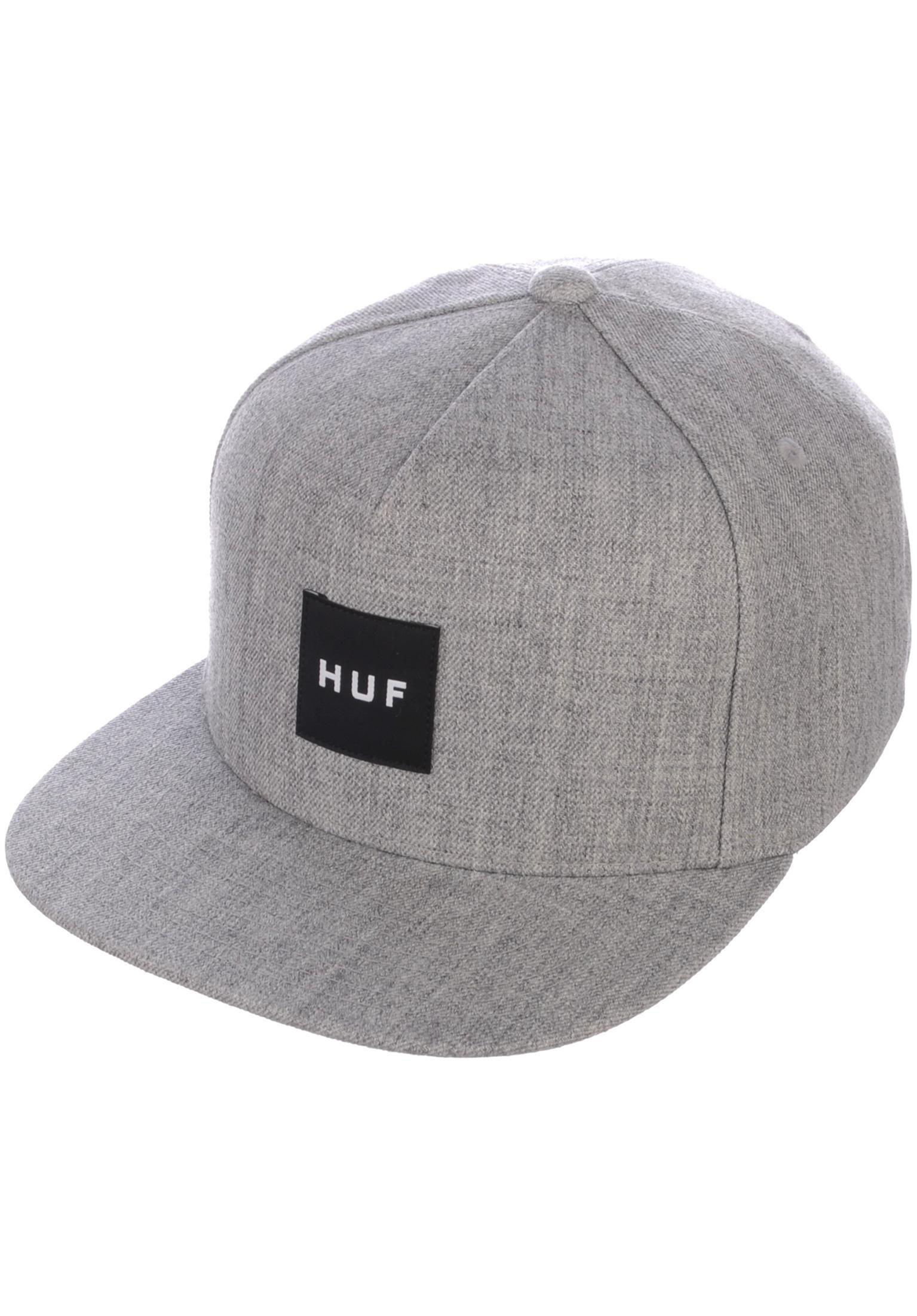 8558fcfd3ce Box Logo Snapback HUF Caps in charcoal for Men