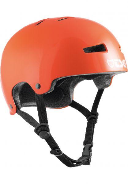 TSG Helme Evolution Kids Solid Color gloss orange vorderansicht 0750016