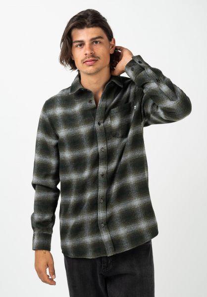 Wemoto Hemden langarm Upton olive vorderansicht 0412042