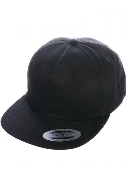 Flexfit Caps Unstructured Snapback black vorderansicht 0566391