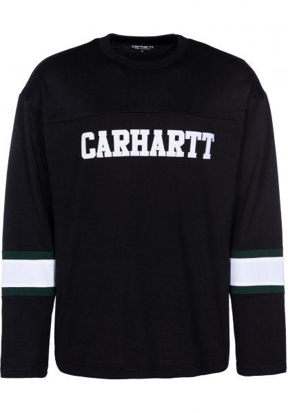 Carhartt WIP Longsleeves Thorpe College black vorderansicht 0383138