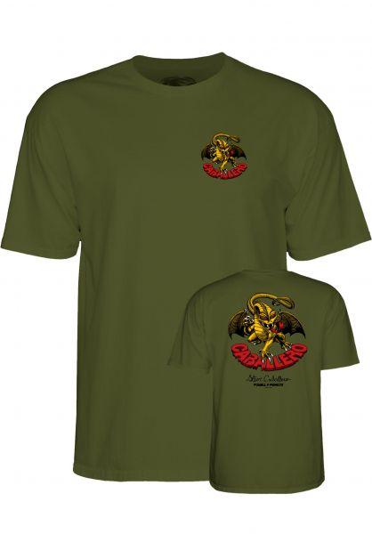 Powell-Peralta T-Shirts Cab-Dragon-II military-green Vorderansicht