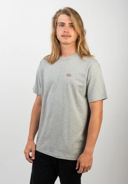 Dickies T-Shirts Stockdale greymelange vorderansicht 0397354