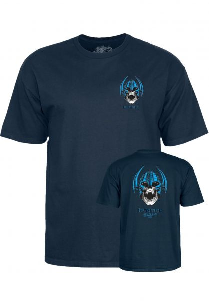 Powell-Peralta T-Shirts Welinder Nordic Skull navy Vorderansicht