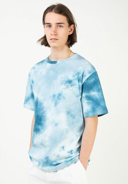 TITUS T-Shirts Aitor blue-batik vorderansicht 0321928