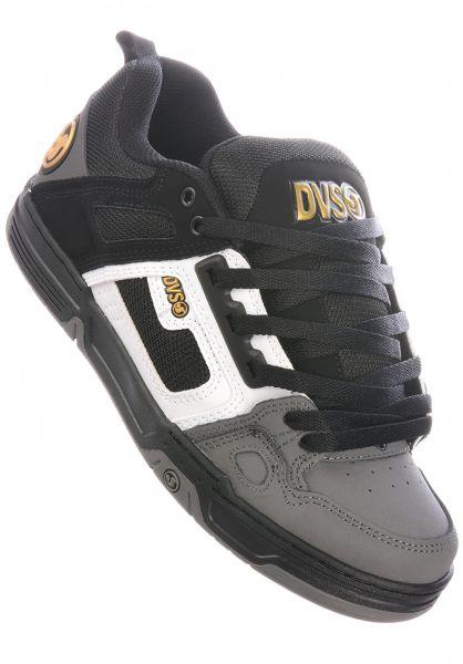 DVS Alle Schuhe Comanche black-white-charcoal vorderansicht 0603386