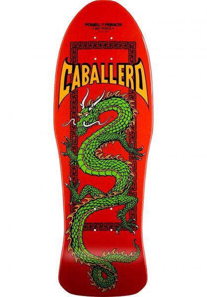 Powell-Peralta Skateboard Decks Caballero Chinese Dragon red vorderansicht 0103083