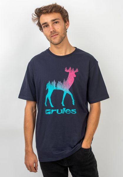 Rules T-Shirts Deer deepnavy vorderansicht 0395794