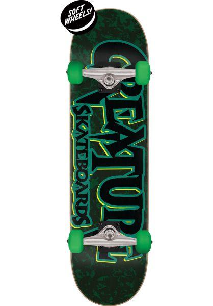 Creature Skateboard komplett Cinema Mini black-green vorderansicht 0162413