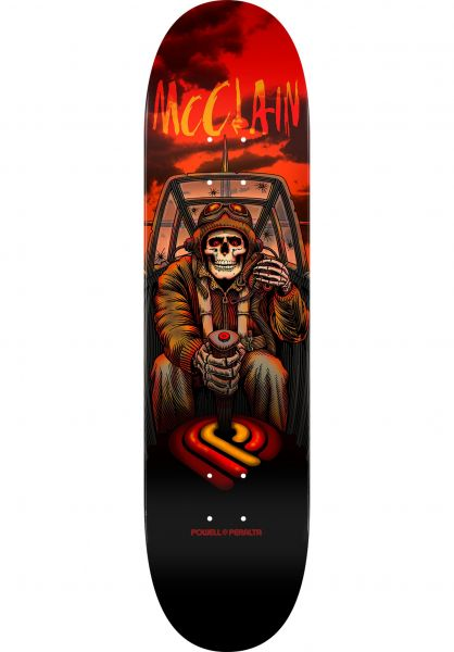 Powell-Peralta Skateboard Decks Brad McClain Pilot Popsicle black-red Vorderansicht