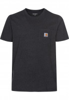 Carhartt WIP T-Shirts Pocket blackheather Vorderansicht