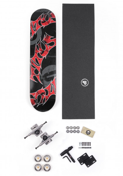 "TITUS Skateboard komplett Assembly Kit Triple Schranz Mini 7.0"" black Vorderansicht"