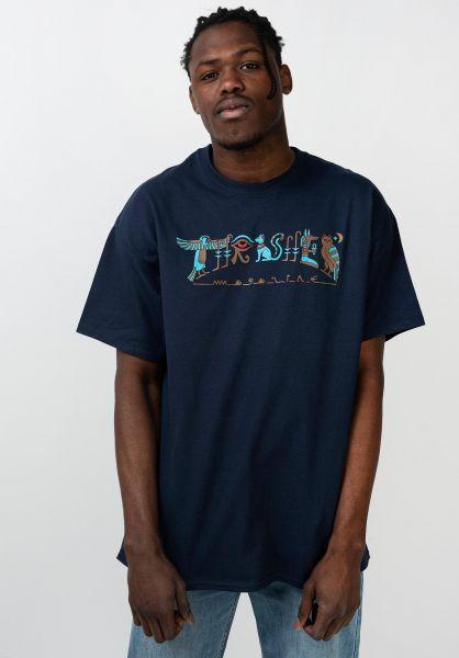 Thrasher T-Shirts Hieroglyphic navy vorderansicht 0321611