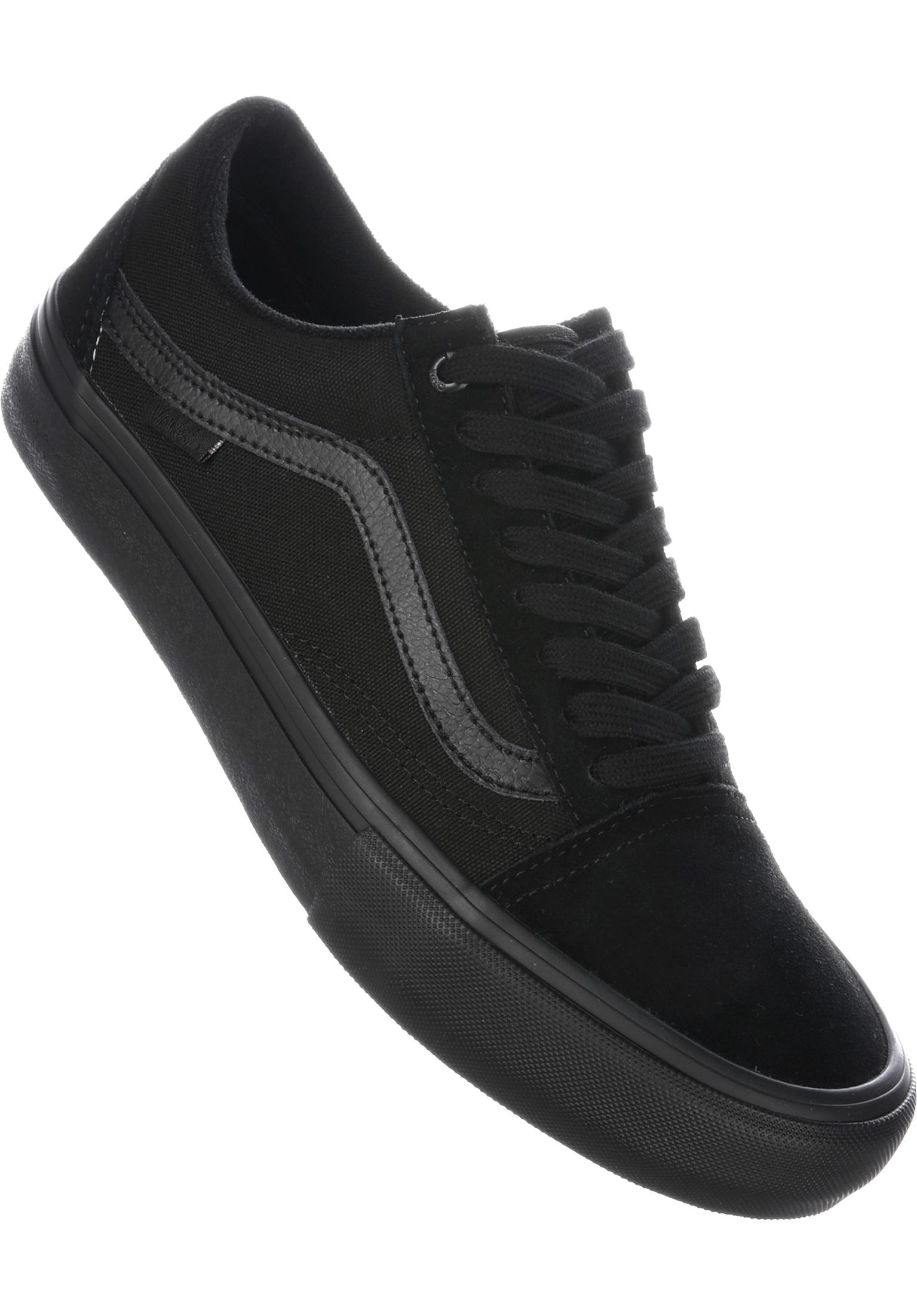7a6f42a960bc Old Skool Pro Vans All Shoes in blackout for Men