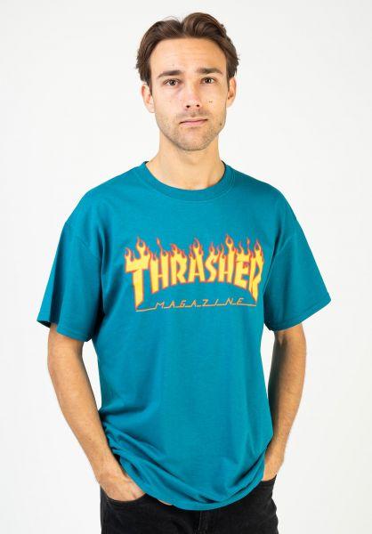Thrasher T-Shirts Flame galapagos vorderansicht 0036093