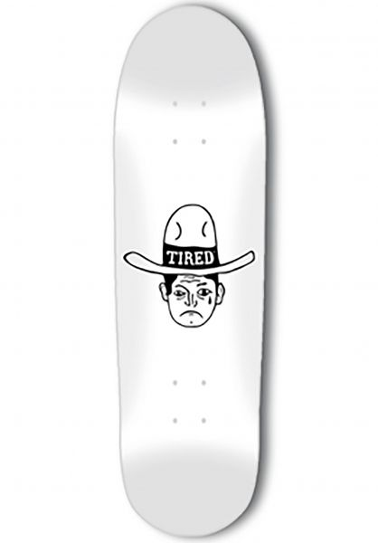 Tired Skateboard Decks Cowboy on Deal white Vorderansicht