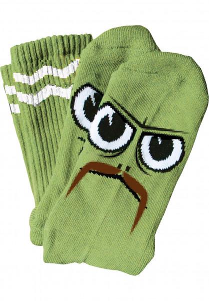 Toy-Machine Socken Turtleboy Stache green Vorderansicht