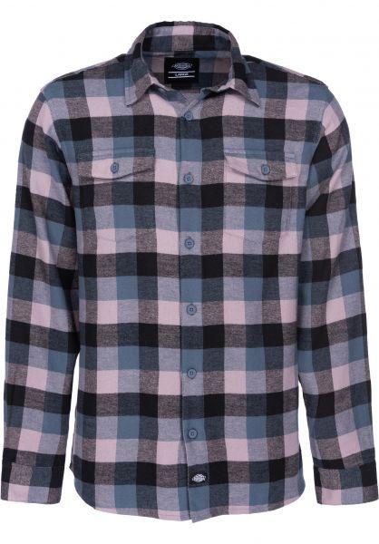 Dickies Hemden langarm Luray darkteal vorderansicht 0411807
