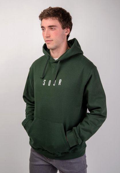 Sour Skateboards Hoodies Army Embroidered bottlegreen vorderansicht 0444597