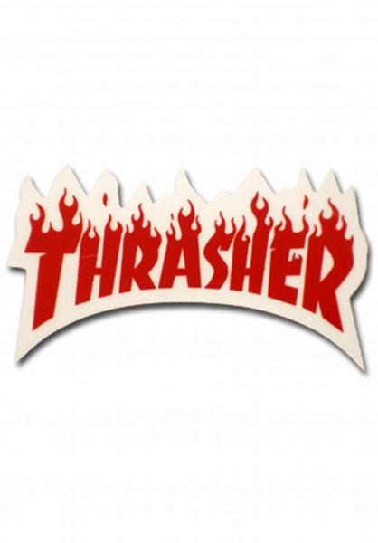 Thrasher Verschiedenes Flame Sticker Small red Vorderansicht
