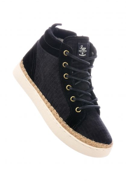 Roxy Alle Schuhe Harbor Fur black Vorderansicht