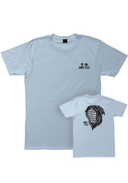 Dark Seas T-Shirts x SBK Dead Head powderblue vorderansicht 0399052