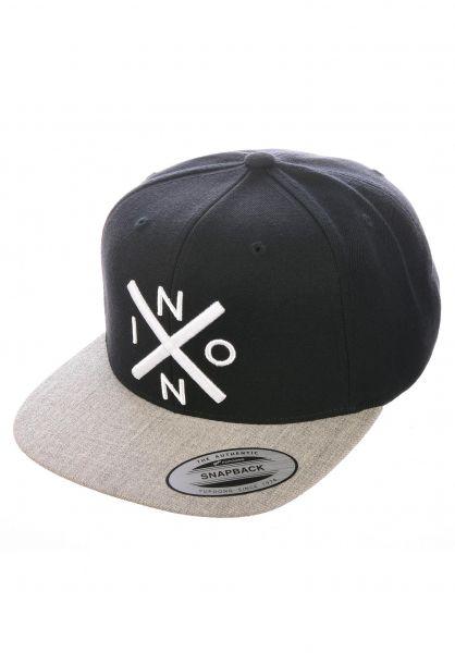 Nixon Caps Exchange black-heathergrey vorderansicht 0564612