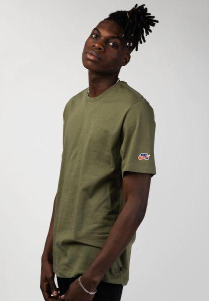 Nike SB T-Shirts Essential mediumolive vorderansicht 0398166