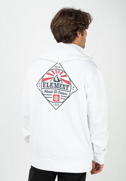 Element Zip-Hoodies Medwell opticwhite vorderansicht 0454856