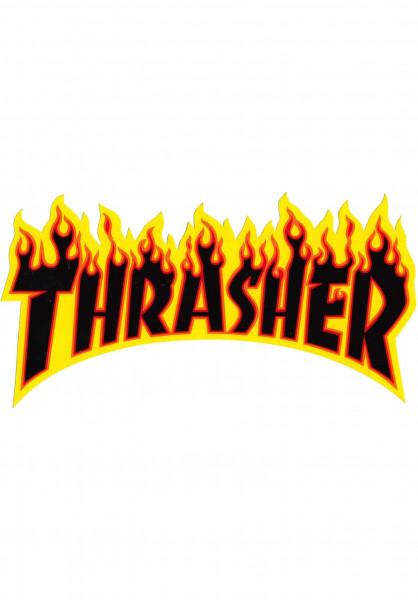 Thrasher Verschiedenes Flame Sticker Large black Vorderansicht