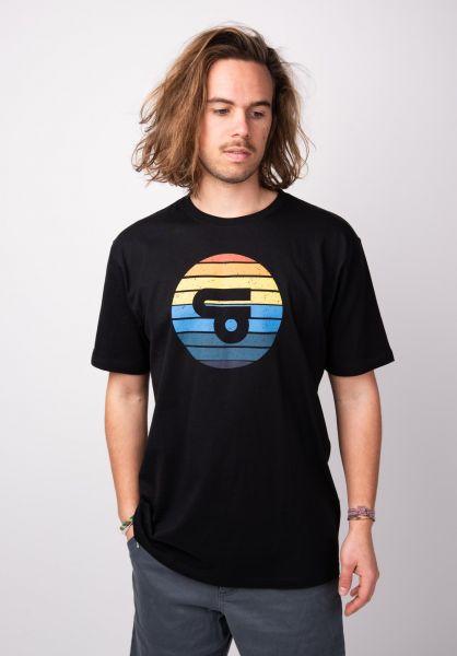 TITUS T-Shirts Udin black vorderansicht 0398359