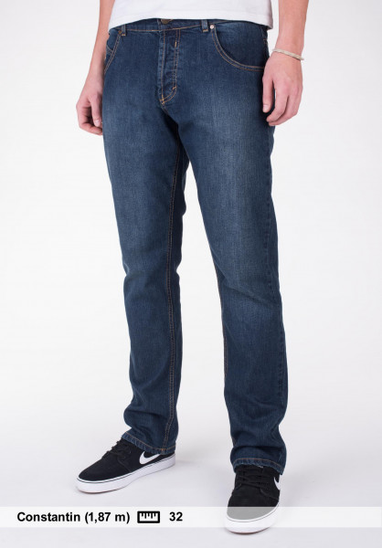 Rebel Rockers Jeans Middleclass blue-washed Vorderansicht