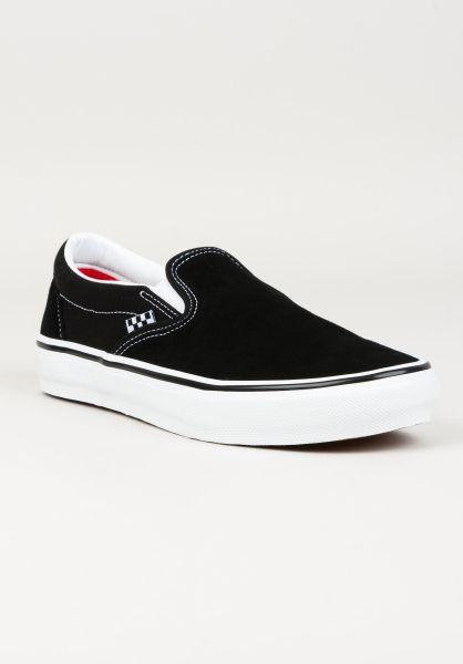 Vans Alle Schuhe Skate Slip-On black-white vorderansicht 0604968