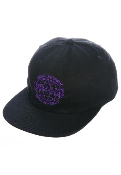 Welcome Caps Global Unstructured black-purple vorderansicht 0566439