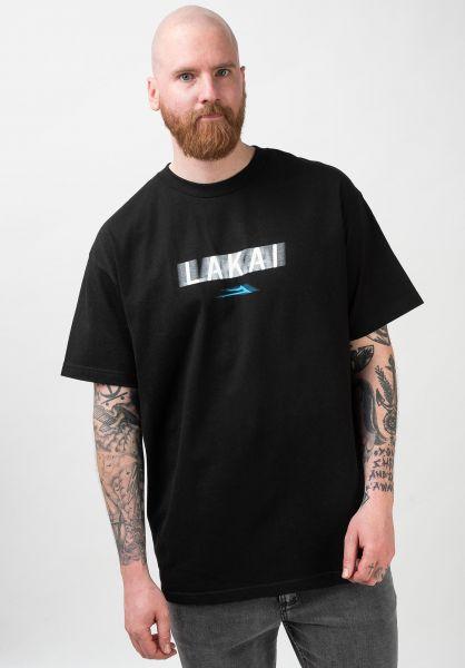 Lakai T-Shirts Blur black vorderansicht 0321437