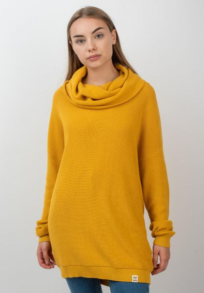 iriedaily Strickpullover Mock Turtle honey vorderansicht 0141664