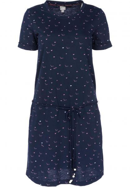 Bench Kleider Printed Jersey Dress maritime Vorderansicht