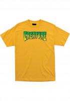 Creature T-Shirts Logo gold Vorderansicht