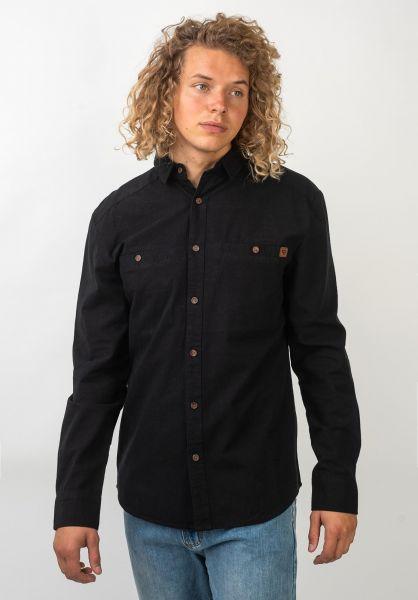 TITUS Hemden langarm Jason black-black vorderansicht 0411382